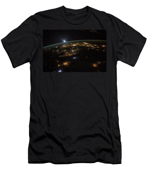 Good Morning From The International Space Station Men's T-Shirt (Athletic Fit)