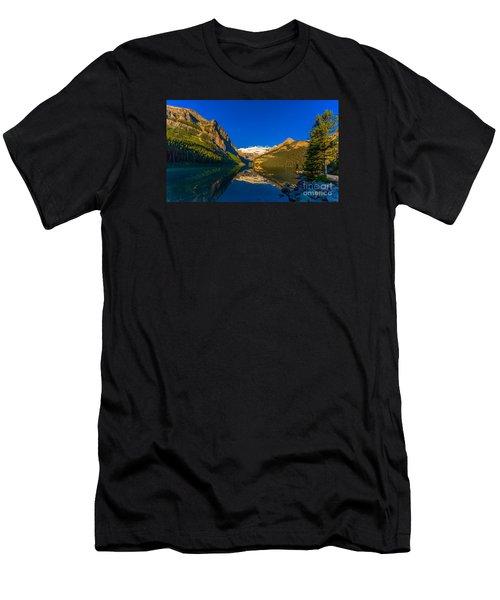 Good Morning Lake Louise Men's T-Shirt (Slim Fit) by John Roberts
