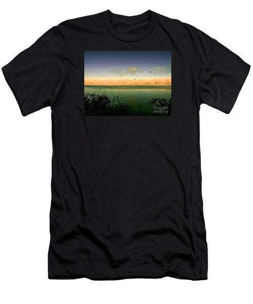 Men's T-Shirt (Slim Fit) featuring the photograph Good Morning Lake Winnisquam by Mim White