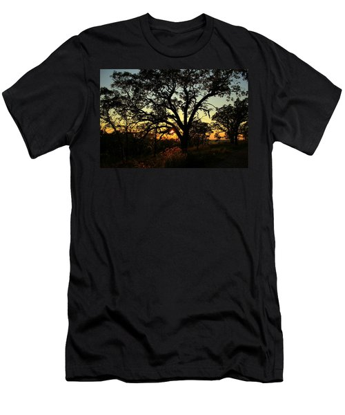 Men's T-Shirt (Athletic Fit) featuring the photograph Good Night Tree by Viviana  Nadowski