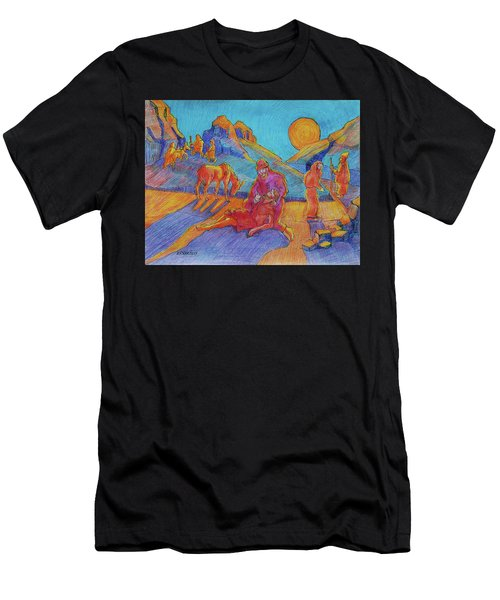 Good Samaritan Parable Painting Bertram Poole Men's T-Shirt (Athletic Fit)