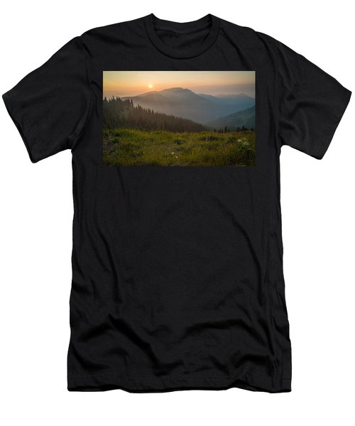 Goodnight Mountains Men's T-Shirt (Athletic Fit)