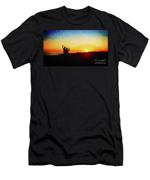 Goodnight Mr. Sun  Men's T-Shirt (Athletic Fit)