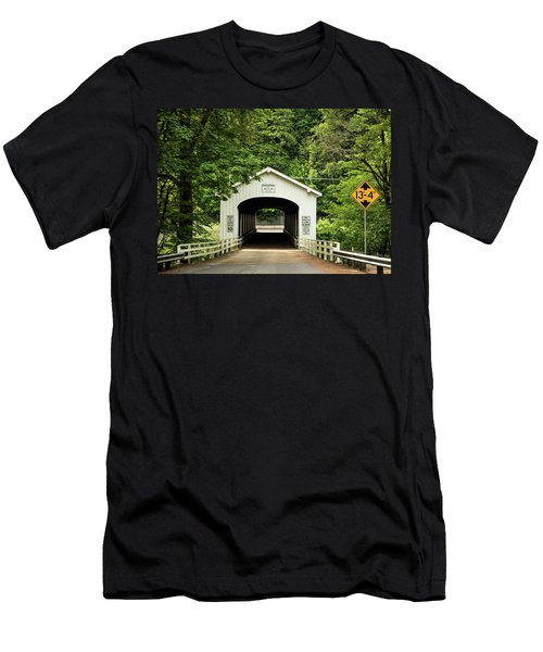 Goodpasture Covered Bridge Men's T-Shirt (Athletic Fit)