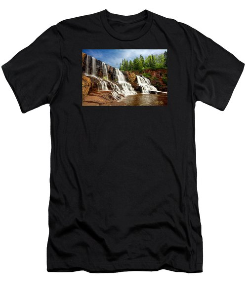 Men's T-Shirt (Athletic Fit) featuring the photograph Gooseberry Falls by Rikk Flohr