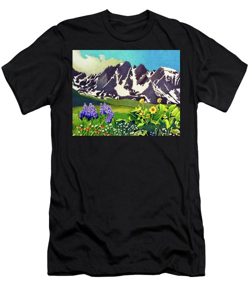 Gore Range Wildflowers Men's T-Shirt (Athletic Fit)