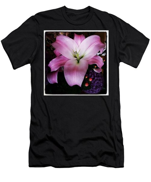Men's T-Shirt (Athletic Fit) featuring the photograph Gorgeous Flowers. Real. I Think They by Mr Photojimsf