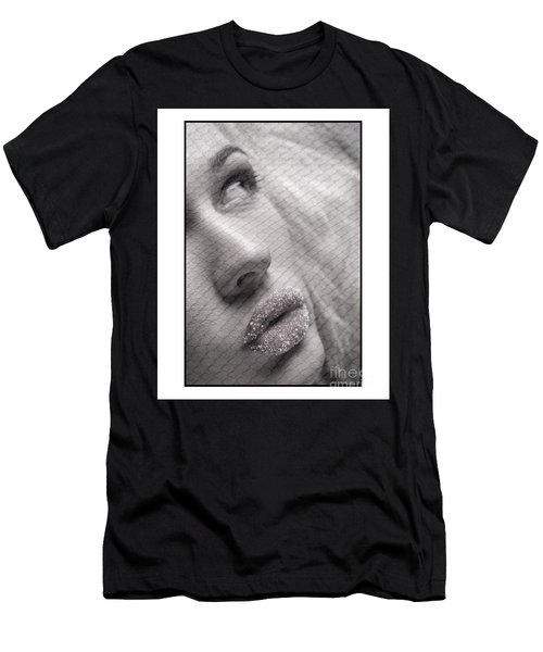 Gorgeous Girl With Sugar On Her Lips Men's T-Shirt (Athletic Fit)