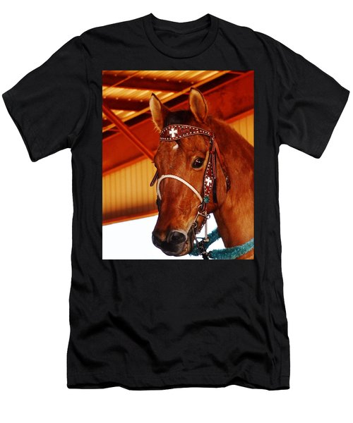 Gorgeous Horse And Bridle Men's T-Shirt (Athletic Fit)