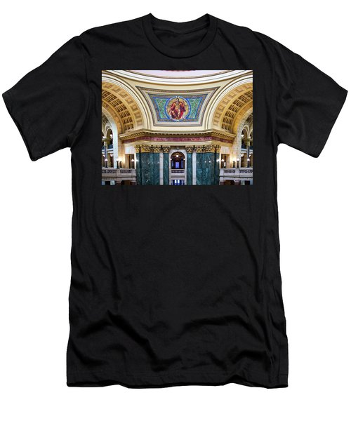 Government Mural - Capitol - Madison - Wisconsin Men's T-Shirt (Athletic Fit)