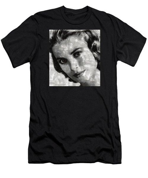 Grace Kelly Men's T-Shirt (Slim Fit) by Mary Bassett