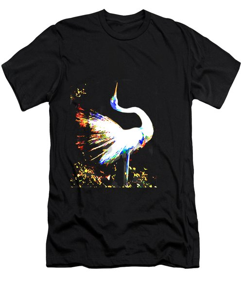 Grace Of Egret Men's T-Shirt (Athletic Fit)