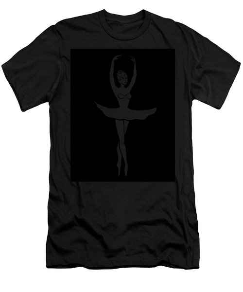 Graceful Dance Ballerina Silhouette Men's T-Shirt (Athletic Fit)