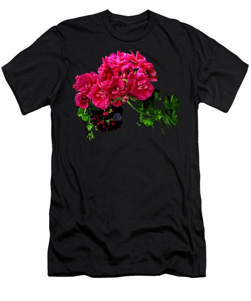 Graceful Geraniums Men's T-Shirt (Slim Fit)