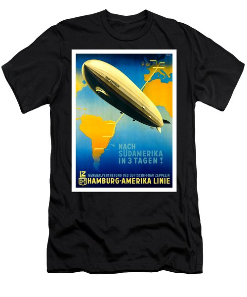 Graf Zeppelin Hamburg Amerika Line II 1936 Men's T-Shirt (Athletic Fit)