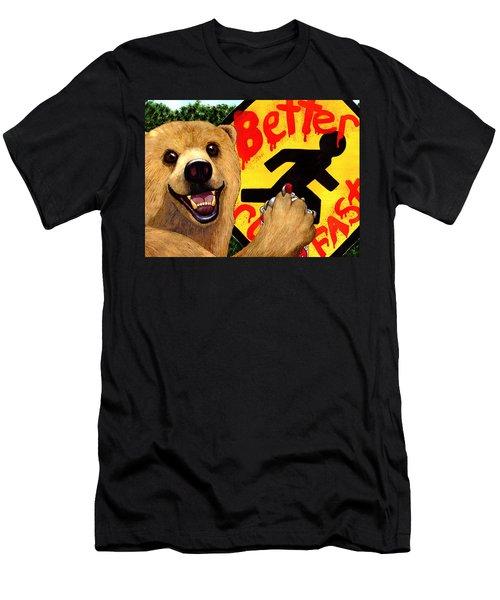 Graffiti Bear Men's T-Shirt (Athletic Fit)