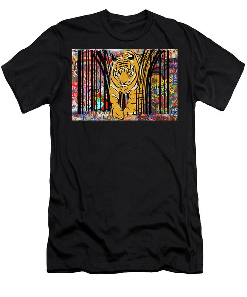 Graffiti Tiger Men's T-Shirt (Athletic Fit)