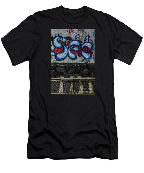 Graffitti And Train Tracks Men's T-Shirt (Athletic Fit)