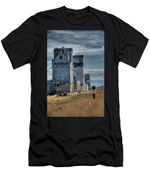 Grain Elevators, Wilsall Men's T-Shirt (Athletic Fit)