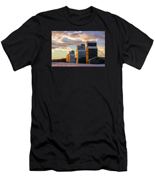 Men's T-Shirt (Athletic Fit) featuring the photograph Granary Row by Todd Klassy