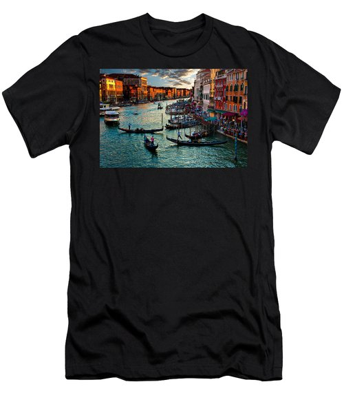 Grand Canal Sunset Men's T-Shirt (Slim Fit) by Harry Spitz