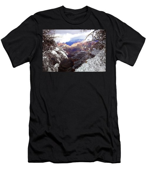 Men's T-Shirt (Athletic Fit) featuring the photograph Grand Canyon Branch by Lucian Capellaro