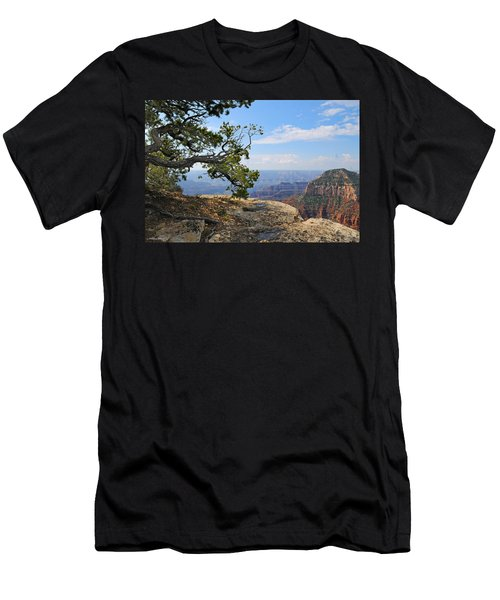 Grand Canyon North Rim Craggy Cliffs Men's T-Shirt (Athletic Fit)