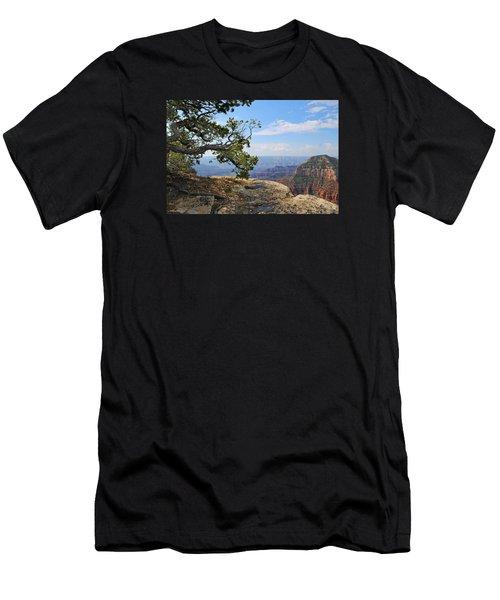 Grand Canyon North Rim Craggy Cliffs Men's T-Shirt (Athletic Fit)