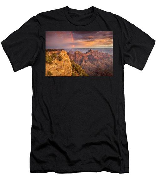 Grand Canyon North Rim Rainbow Men's T-Shirt (Athletic Fit)