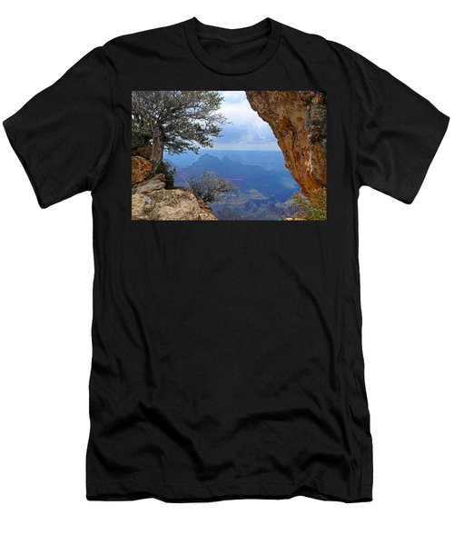 Grand Canyon North Rim Window In The Rock Men's T-Shirt (Athletic Fit)