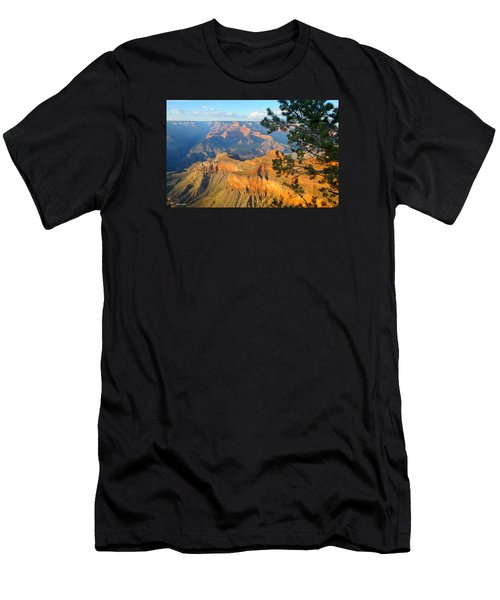 Grand Canyon South Rim - Pine At Right Men's T-Shirt (Athletic Fit)