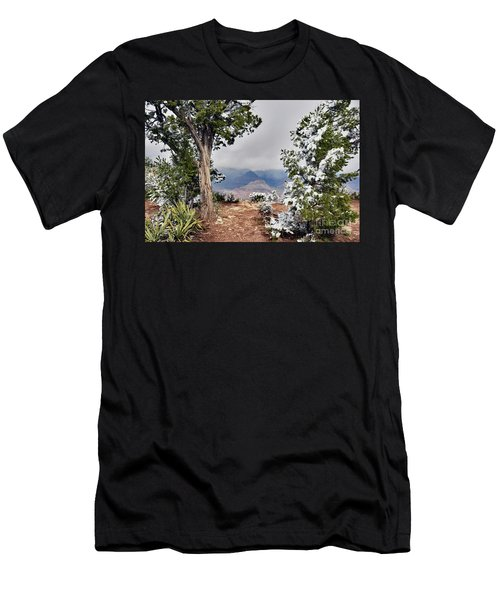 Grand Canyon Through The Trees Men's T-Shirt (Slim Fit) by Debby Pueschel