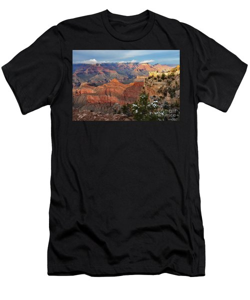 Grand Canyon View Men's T-Shirt (Slim Fit) by Debby Pueschel