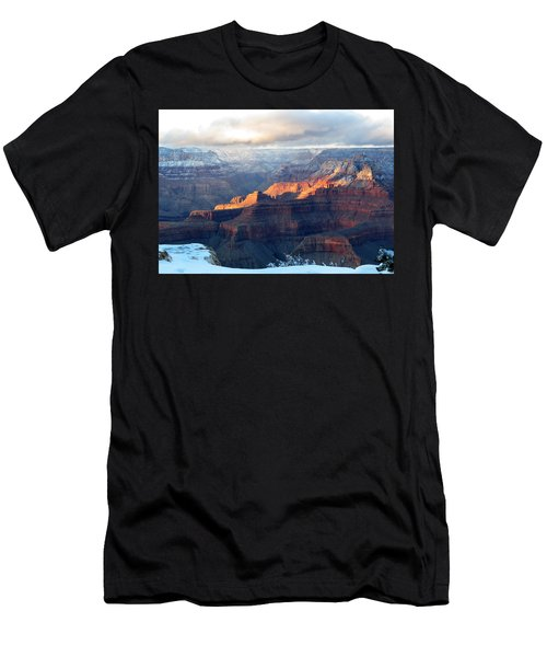 Grand Canyon With Snow Men's T-Shirt (Athletic Fit)