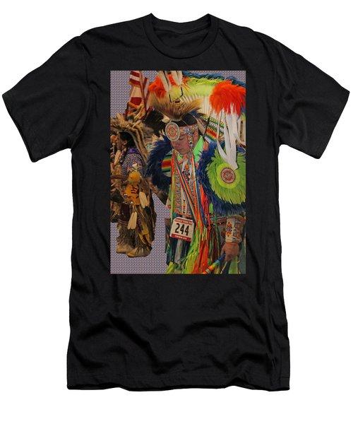Grand Entry-3 Men's T-Shirt (Slim Fit) by Audrey Robillard