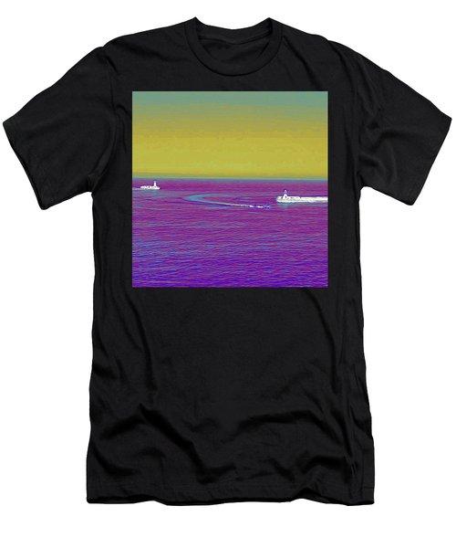 Purple Sea Men's T-Shirt (Athletic Fit)