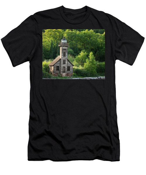 Grand Island Light House In Spring Men's T-Shirt (Athletic Fit)