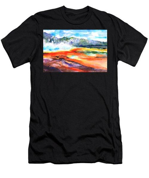 Grand Prismatic Hot Spring Men's T-Shirt (Athletic Fit)