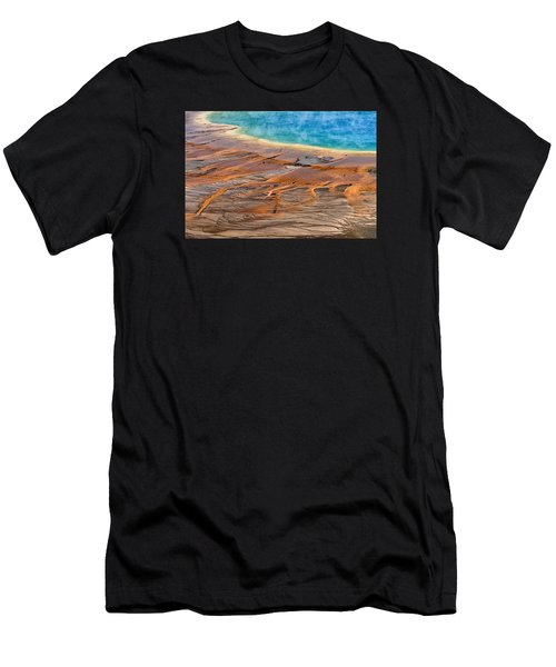 Men's T-Shirt (Athletic Fit) featuring the photograph Grand Prismatic Spring by Ken Barrett