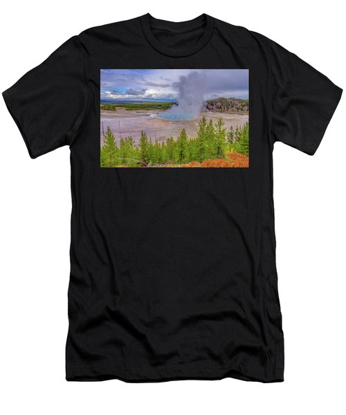 Grand Prismatic Spring Overlook Yellowstone Men's T-Shirt (Athletic Fit)