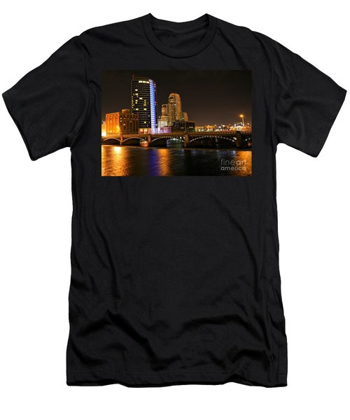 Grand Rapids Mi Under The Lights Men's T-Shirt (Athletic Fit)