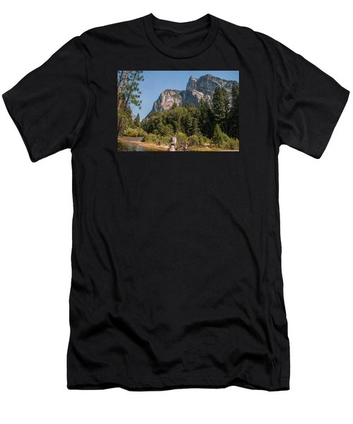 Grand Sentinel Zumalt Meadow Kings Canyon National Park Men's T-Shirt (Athletic Fit)