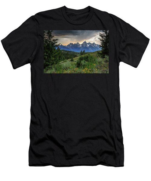 Grand Stormy Sunset Men's T-Shirt (Slim Fit) by David Chandler
