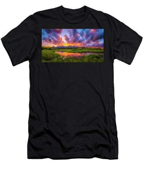 Grand Sunset In The Tetons Men's T-Shirt (Athletic Fit)