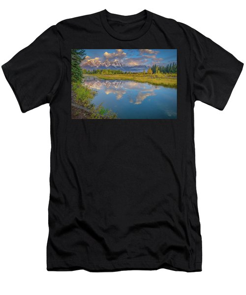 Grand Teton Morning Reflection Men's T-Shirt (Athletic Fit)