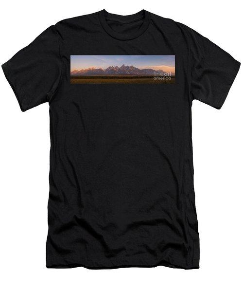 Grand Teton Mountain Range At Sunrise Panorama Men's T-Shirt (Athletic Fit)