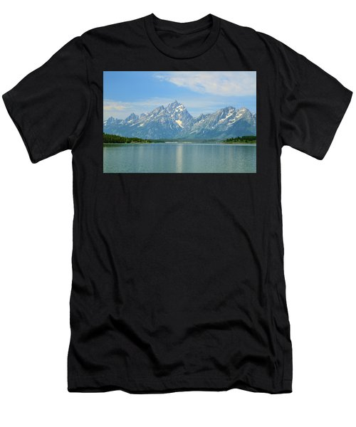 Grand Teton Over Jackson Lake Men's T-Shirt (Athletic Fit)