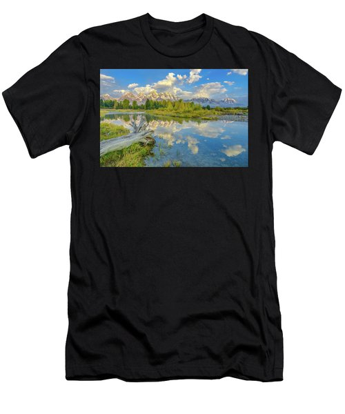 Grand Teton Riverside Morning Reflection Men's T-Shirt (Athletic Fit)
