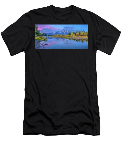 Grand Teton Sunrise Panoramic Men's T-Shirt (Athletic Fit)
