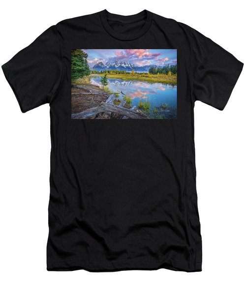 Grand Teton Sunrise Reflection Men's T-Shirt (Athletic Fit)